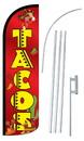 NEOPlex SW11020-4SPD-SGS Tacos Peppers/Catus Deluxe Windless Swooper Flag Kit