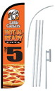 NEOPlex SW11026-4SPD-SGS Little Caesars Hot-N-Ready Deluxe Windless Swooper Flag Kit