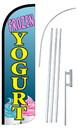 NEOPlex SW11027-4SPD-SGS Frozen Yogurt Blue Deluxe Windless Swooper Flag Kit
