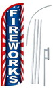 NEOPlex SW11036-4SPD-SGS Fireworks Deluxe Windless Swooper Flag Bundle