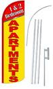 NEOPlex SW11043-4SPD-SGS 1&2 Bedroom Apartments Deluxe Windless Swooper Flag Kit