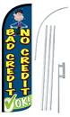 NEOPlex SW11046-4SPD-SGS Bad Credit/No Credit Ok Deluxe Windless Swooper Flag Kit