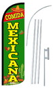 NEOPlex SW11056-4SPD-SGS Comida Mexicana Deluxe Windless Swooper Flag Kit