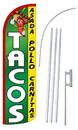 NEOPlex SW11057-4SPD-SGS Tacos Deluxe Windless Swooper Flag Bundle