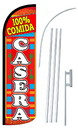 NEOPlex SW11059-4SPD-SGS 100% Comida Casera Deluxe Windless Swooper Flag Kit