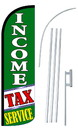 NEOPlex SW11063-4SPD-SGS Income Tax Service Green Deluxe Windless Swooper Flag Kit