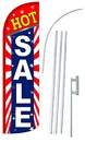 NEOPlex SW11065-4SPD-SGS Hot Sale Stars & Stripes Deluxe Windless Swooper Flag Kit