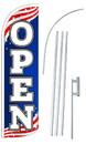 NEOPlex SW11066-4SPD-SGS Open Stars & Stripes Deluxe Windless Swooper Flag Kit