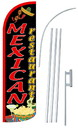 NEOPlex SW11067-4SPD-SGS Mexican Restaurant Deluxe Windless Swooper Flag Kit