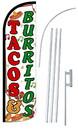 NEOPlex SW11076-4SPD-SGS Tacos & Burritos Deluxe Windless Swooper Flag Kit