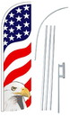 NEOPlex SW11104-4SPD-SGS Usa Eagle Deluxe Windless Swooper Flag Kit