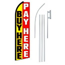 NEOPlex SW11123-4PL-SGS Buy Here Pay Here Swooper Flag Bundle