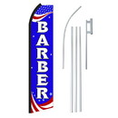 NEOPlex SW11183-4PL-SGS Barber Red, White & Blue Swooper Flag Bundle