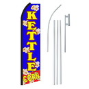 NEOPlex SW11188-4PL-SGS Kettle Corn Blue & Yellow Swooper Flag Bundle