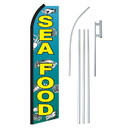 NEOPlex SW11191-4PL-SGS Seafood With Fish Swooper Flag Bundle
