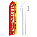 NEOPlex SW11208-4PL-SGS Accounting Red & Yellow Swooper Flag Bundle