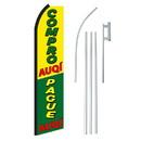 NEOPlex SW11213-4PL-SGS Compro/Pague Auqi Swooper Flag Bundle