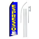 NEOPlex SW11245-4PL-SGS Espresso Blue & Yellow Swooper Flag Bundle