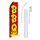 NEOPlex SW11249-4PL-SGS Bbq Red & Yellow Swooper Flag Bundle