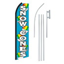 NEOPlex SW11250-4PL-SGS Snow Cones Blue & White Swooper Flag Bundle