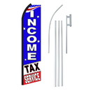 NEOPlex SW11259-4PL-SGS Income Tax Service Swooper Flag Bundle