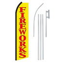 NEOPlex SW11316-4PL-SGS Fireworks Yellow & Red Swooper Flag Bundle