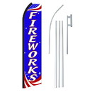 NEOPlex SW11317-4PL-SGS Fireworks Red, White & Blue Swooper Flag Bundle