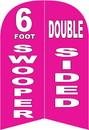 NEOPlex SW89996 Custom Print 6' Double Sided Windless Swooper Flag