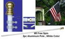 NEOPlex SWP-10 6' Spin Free Flag Pole