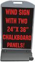 NEOPlex WS11-1810CB Wind Sign Ii - Chalkboard