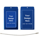Personalized  Custom Luggage Tags Aluminum Business Card Holder Travel ID Bag Tag