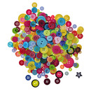 Aspire 1500 PCS Resin Buttons for Crafts, Mixed Color and Size, Kids Handmade Painting Scrapbooking