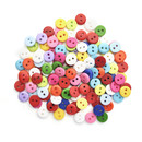 Aspire 1000 Pieces Resin Button Mix Color 7 Sizes for Sewing DIY Craft Kids' Sorting Game
