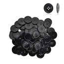 Aspire 1000 Pieces Black Sewing Buttons 7 Sizes, Round Resin Button Flatback for Sewing Craft