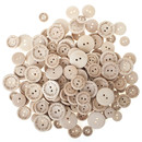 Aspire 400 Pcs Wooden Buttons Handmade with Love, Round Sewing Buttons DIY Accessories