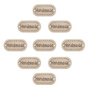 Aspire 200 Pcs Handmade Tag Label Button, Oval 25mm Wooden Button 2 Holes for Sewing Decoration