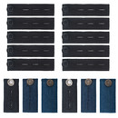 Aspire Waistband Extender Pants Waist Elastic Extenders Set, 2 Types for Jeans, Skirt and Trousers