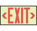 NMC 7310 Glow Reflective Red Exit Sign, PLASTIC