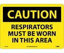 NMC C397 Caution Respirators Must Be Worn In This Area Sign