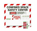 NMC CSC Confined Space Safety Center Paper Hazard Sign, ASSEMBLY / KIT
