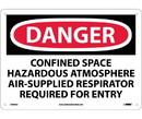 NMC D489 Danger Confined Space Hazardous Atmosphere Sign