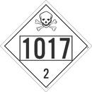 NMC DL72B 1017 2 Dot Placard Sign