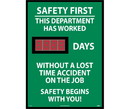 NMC DSB1 Safety First This Department Has Worked Digital Scoreboard, Rigid Plastic, 28