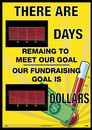 NMC DSB857 There Are Days Remaining To Meet Our Goal 2 Led Digital Scoreboard, RIGID PLASTIC .085, 28