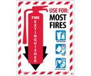 NMC FXPMABCP Fire Extinguisher Sign