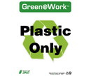 NMC GW2031 Plastic Only Sign, GREEN SIGNS, 14