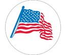 NMC HH21 American Flag Graphic Hard Hat Emblem, Adhesive Backed Vinyl, 2
