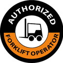 NMC HH63R Authorized Forklift Operator Hard Hat Label, Reflective Vinyl Sheeting, 2