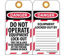NMC LOTAG11 Danger Do Not Operate Equipment Lock-Out Tag