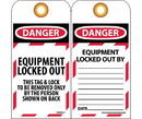 NMC LOTAG17 Danger Equipment Locked Out Tag